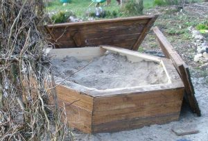 Frühling plus Mathematik ergibt Sandkasten