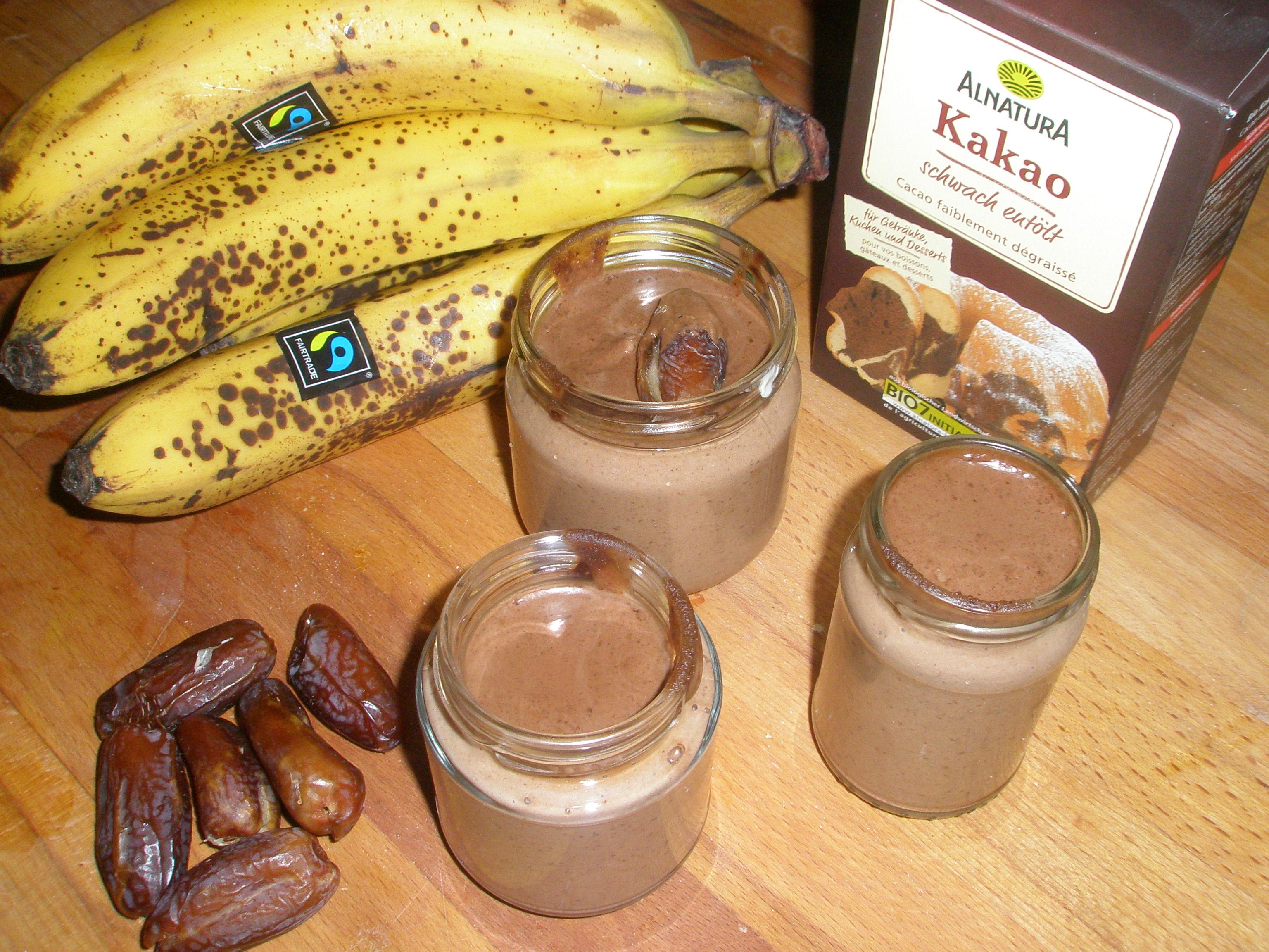 Nougat Schoko Pudding roh vegan